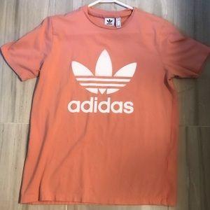 Orange adidas shirt